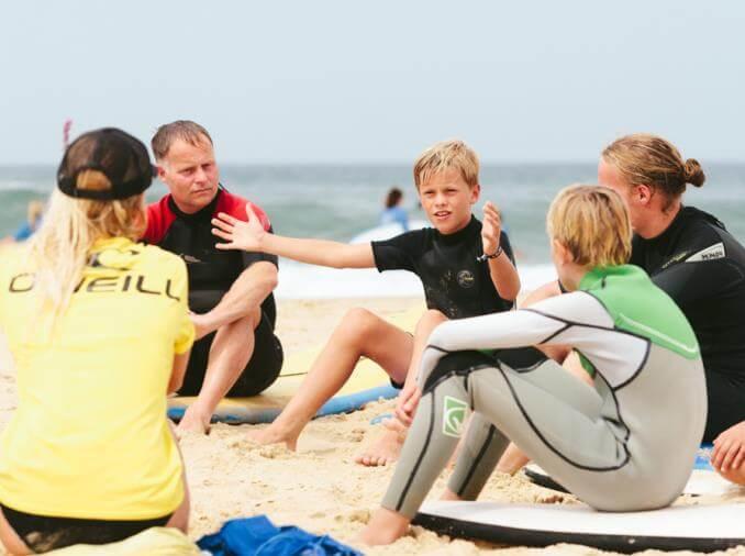 Surfvakantie gezin Frankrijk