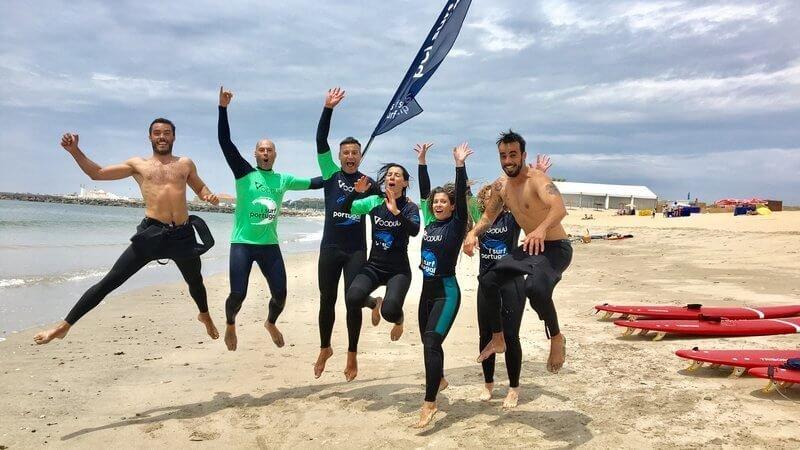 Familie surfvakantie porto portugal