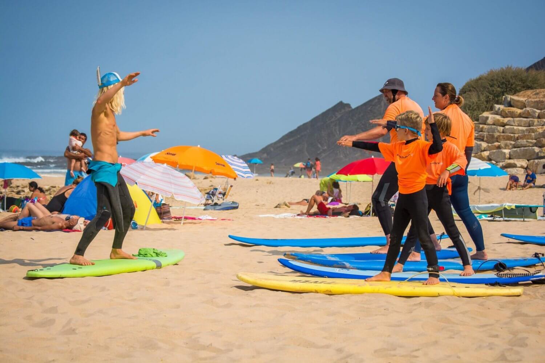 Surfen met gezin